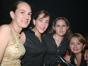 Gaby de Rodríguez, Aline de Caraveo. Elizabeth Pico Moreno y Angélica Pico de Valverde