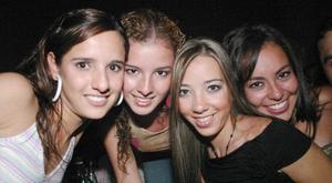 Renata Olivares, Angélica García, Mariana Alarcón y Rossana Celayo