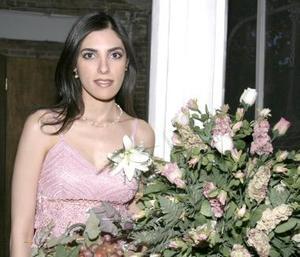 Cecilia Salmón Abraham contraerá matrimonio con Baltazar Villarreal Mena, el 27 de agosto.