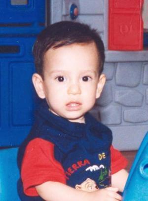 El pequeño Diego Márquez Magallanes, captado en su fiesta de cumpleaños