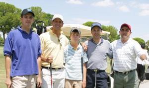 Armando Acosta, Rafael Delgado, Jorge Montaña, Jorge Montaña Jr. y Rodrigo González