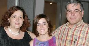 Laura Eraña de Garrido, Martha Torres de Arreola y Francisco Eduardo Torres Chanona.