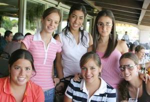 Ana Laura, Karina, Adrina, MAryfer, Marifer Parra y Carmina.