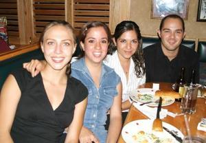 Ale de Orvin, Marcela Ortiz, Caro Venegas y Memo Garibay.