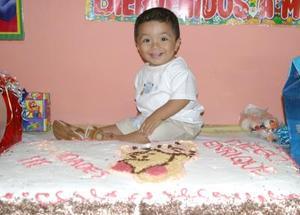 Diego Enrique Juárez en su fiesta con motivo de su primer cumpleaños