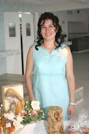 Elsa María Rentería de Berroeta, captada en la fiesta de canastilla que le ofrecieron en honor al bebé que espera.