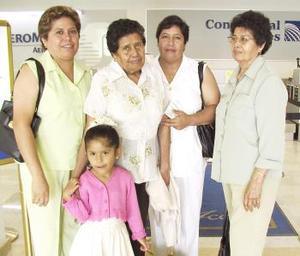 <u><i> 13 de Agosto </u></i><p>   Esther y Laura García, Laura y Esther Reyes y Anette Uribe viajaron con destino a Tijuana.