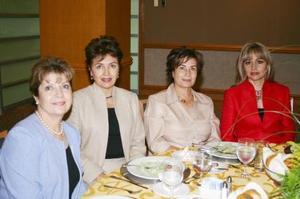 Ruth Gancz, Lucy Calvillo, Alma Rosa E. de Campos y María de los Ángeles Mijares.