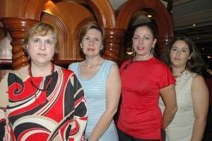 María Esthela Sada de H, Carolina Z. de Hernández, Guadalupe Díaz de A. y Rosy de Arellano, Damas del Club Rotario Torreón Laguna.
