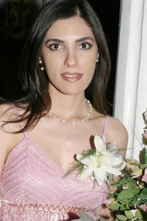 Cecilia Salmón abraham, captada en su despedida de soltera.