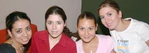 Argentina Arenas, Diana Herrera, Mónica García y Yuri Amezcua.