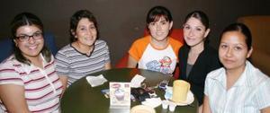 Ivonne Name, Luz María López, Isela Name, Cynthia Zúñiga y Teresa Bañuelos.
