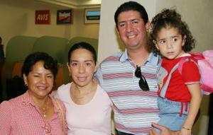 Lourdes Luján, Julieta Rojas, César Alfonso y Paulina Alfonso.