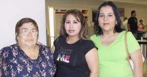 <u><i> 17 de Agosto </u></i><p>   Dorotea Limones, Perla Miramontes y Margarita Muñoz, su trasladaron a la Ciudad de México.