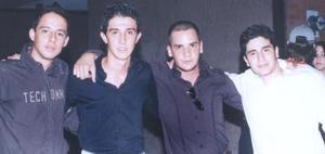 Alejandro Elizalde, Jorge Flores Zaher, Daniel Ambauz y Martín Villalobos.