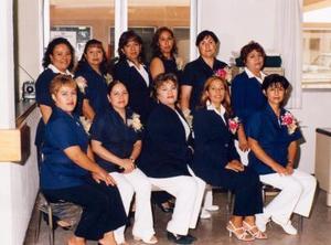 <u><i> 21 de Agosto </u></i><p>  Trabajadoras sociales del Hospital General de Zona No 51 de la unidad de Medicina Familiar No 43, en un convivio ofrecido por el cuerpo de gobierno con motivo de su día.