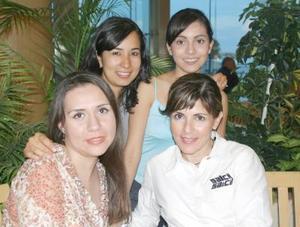Lily de Ávila, Maribel Ramírez, Alejandra Villavicencio y Elsa Lechuga.