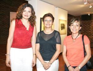 Lourdes Bernal, Claudia Máynez y Cristina Solórzano.