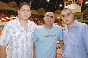 Anuar Ganem, Manuel Valero y Chuy Henry