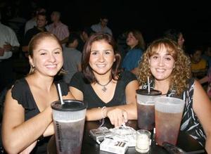 Claudia Duarte, Rocío González y Mayela González.