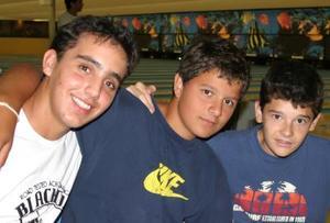 Raúl Garza Leal, Rafael Villegas y Francisco Rebollo.