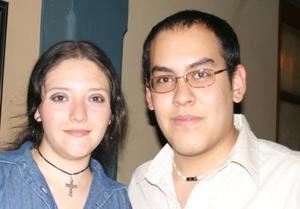 Cynthia Vega y José Alberto Aguirre.