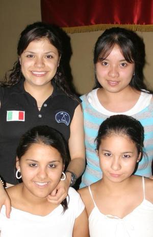 Ileaná Cruz, Mariana Santos, Liz del Bosque y Vicky Villarreal.