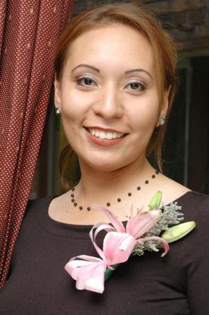 Ana Yessica Guerrero Hinojosa, captada en su despedida de soltera.