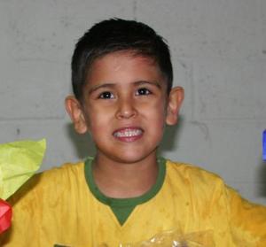 Francisco Ramírez de la Peña, captado en la fiesta infantil que le ofrecieron sus papás por sus cinco años de vida.