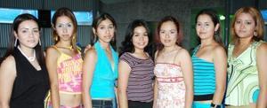 SAmérica Cháirez, Cristina Márquez, Lizeth Herrera, Margarita Hernández, Perla Cháirez, Marcela Márquez y Karla Hernández.