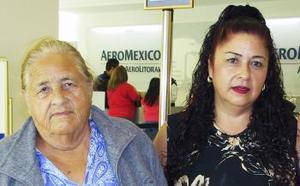 <u><i> 29 de Agosto </u></i><p>   María Sánchez y Francisca aguirre viajaron a California.