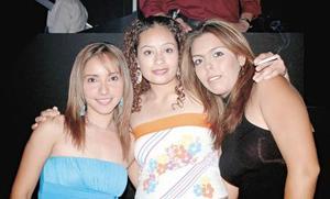 Jéssica Franco, Carolina Reyes y Érika Sandoval