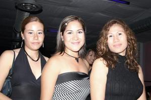 Karina Gallegos, Rocío Rivera y Rocío Hinojosa
