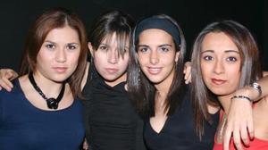 Daniela, Lucía, Aída y Cynthia.