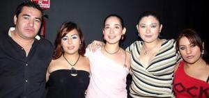 Mario Nájera, Cynthia Díaz, Cristina rosales, Cynthia Nájera y Berenice Delgado.