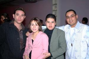Joel Hernández, Claudia Martínez, Aldo Alvarado y Antonio Véliz .
