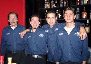 Fidel Juárez, Carlos Cervantes, Víctor Hamdan y  Alfredo Sánchez.