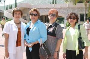 <u><i>01 de Septiembre de 2004</u></i><p>  Edna Calzado, Alicia Garibay, Magdalena Sáenz y Paulina Barajas.