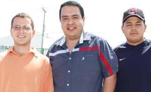 Diego Lorda, César García y Salvador González.