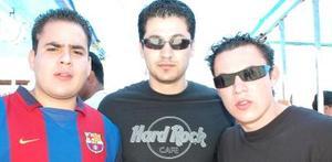 Manuel Sánchez, Sebastián González y Salvador Córdoba.
