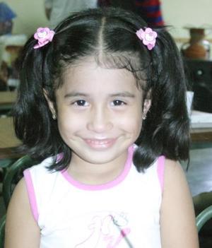 Andrea Aguilera Félix, en pasado festejo social.