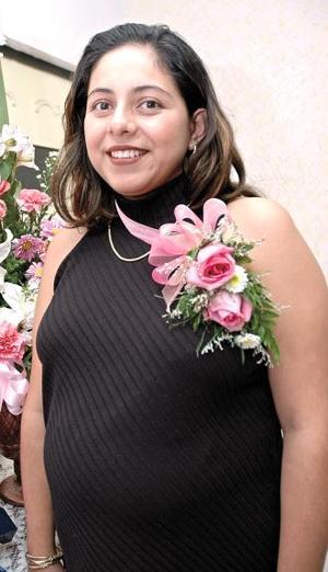 Anna Lilian Guzmán de Rivas, en su fiesta de canastilla.