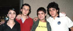 Luis Arturo Guerrero, Armando Sicsik, Andrea Sicsik y Buji Bracho..jpg