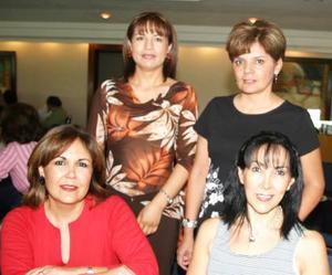 Lidia González de Orozco, Paty Alburquerque, Rocío de Monroy y Laura Robles.