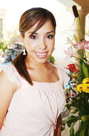 Alejandra Castañeda, captada en su despedida de soltera.