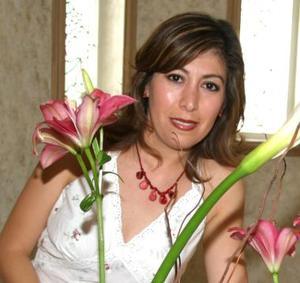 Liliana Rodríguez Canales, captada en su despedida de soltera.