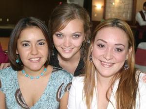 Irma Gómez, Mercedes Romo y Ana Paula Madero.