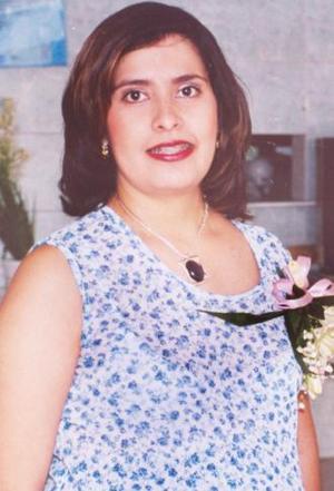 <u><i> 06 de Septiembre de 2004</u></i><p>  Magda Reyes de Romero, captada en su fiesta de regalos.