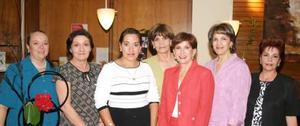 Gaby de Guajardo, Cristy de Dávila, Leonor del Bosque, Nancy de Jalife, Rosy de Revuelta, Gaby de Acosta y Sonia de Revuelta.