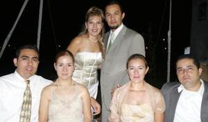 Gina Arroyo, Pablo Alvarado ,  Joge Rubio, Ma. Luisa de Rubio, Yéssica de Betancourt.